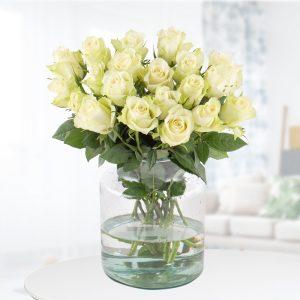 20 Weiße Rosen (40cm)