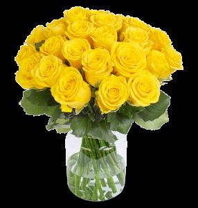 40 gelbe Rosen