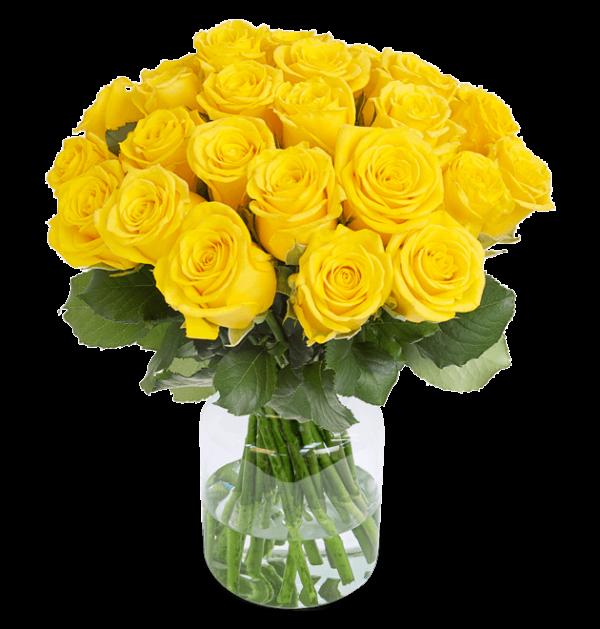 50 gelbe Rosen